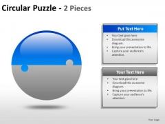 2 Factors Business Circular Puzzle Pieces PowerPoint Slides And Ppt Diagram Templates