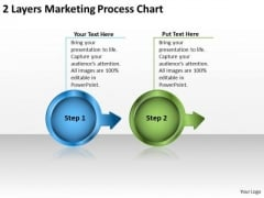 2 Layers Marketing Process Chart Flow PowerPoint Templates