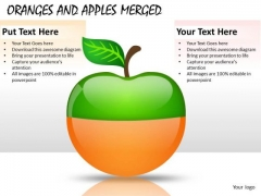 2 Layers Oranges And Apples Merged PowerPoint Slides And Ppt Diagram Templates