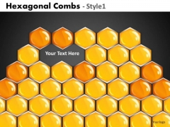 2 Missing Hexagons In A Comb PowerPoint Templates Ppt Slides