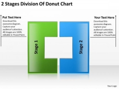 2 Stages Division Of Donut Chart Steps For Writing Business Plan PowerPoint Slides