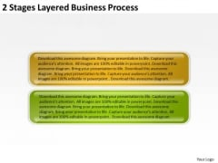 2 Stages Layered Business Process Continuity Plan PowerPoint Templates