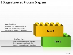 2 Stages Layered Process Diagram Real Estate Business Plan Sample PowerPoint Slides