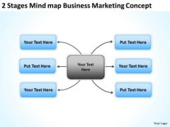 2 Stages Mindmap Business Marketing Concept Proposal PowerPoint Slides