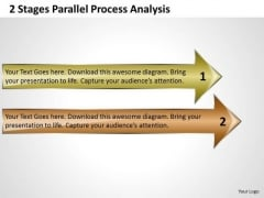 2 Stages Parallel Process Analysis Business Continuity Plan PowerPoint Templates