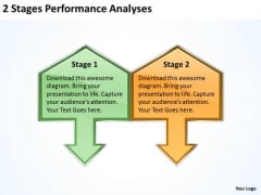 2 Stages Performance Analyses Subway Business Plan PowerPoint Slides