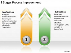 2 Stages Process Improvement Business Plan Outlines PowerPoint Templates
