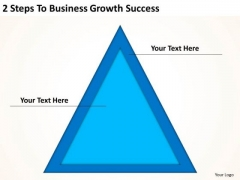 2 Steps To Business Growth Success Plan Templet PowerPoint Slides