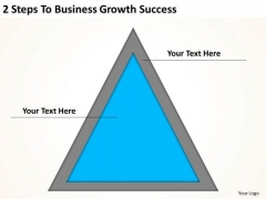 2 Steps To Business Growth Success Sample Plan Outline PowerPoint Templates