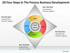 2d Four Steps In The Process Business Development Ppt Plan Ideas PowerPoint Slides