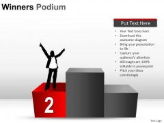 2nd Place Winners Podium PowerPoint Slides And Ppt Diagram Templates
