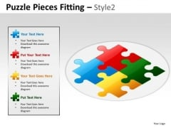 2x2 Puzzle Pieces Fitting PowerPoint Slides And Ppt Diagram Templates