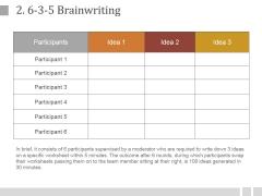 3-5 Brainwriting Ppt PowerPoint Presentation Guide