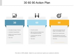 30 60 90 Action Plan Ppt PowerPoint Presentation Professional Icons