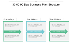 30 60 90 Day Business Plan Structure Ppt PowerPoint Presentation Icon Show
