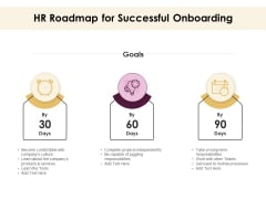 30 60 90 Day Plan HR Roadmap For Successful Onboarding Ppt Portfolio Designs Download PDF