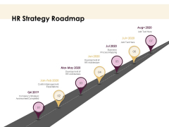 30 60 90 Day Plan HR Strategy Roadmap Business Ppt Professional Slideshow PDF
