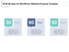 30 60 90 Days For Wordpress Website Proposal Template Ppt PowerPoint Presentation Portfolio Slide Download