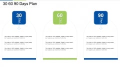 30 60 90 Days Plan Brochure PDF