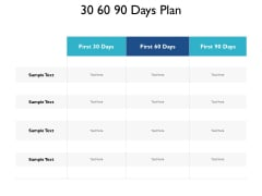 30 60 90 Days Plan Compare Ppt PowerPoint Presentation Ideas Icons