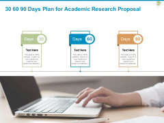 30 60 90 Days Plan For Academic Research Proposal Ppt PowerPoint Presentation File Portrait