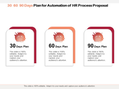 30 60 90 Days Plan For Automation Of HR Process Proposal Ppt PowerPoint Presentation Outline Icons PDF