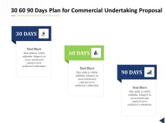 30 60 90 Days Plan For Commercial Undertaking Proposal Ppt Template PDF