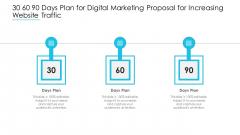 30 60 90 Days Plan For Digital Marketing Proposal For Increasing Website Traffic Guidelines PDF