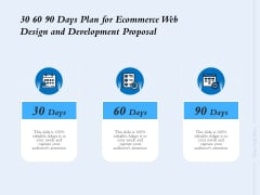 30 60 90 Days Plan For Ecommerce Web Design And Development Proposal Ppt Infographic Template Sample PDF
