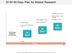 30 60 90 Days Plan For Market Research Ppt PowerPoint Presentation Show Master Slide
