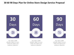 30 60 90 Days Plan For Online Store Design Service Proposal Ppt PowerPoint Presentation Slides Introduction