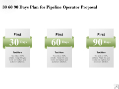 30 60 90 Days Plan For Pipeline Operator Proposal Ppt PowerPoint Presentation Slides Show