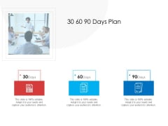 30 60 90 Days Plan Formats PDF