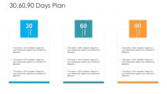 30 60 90 Days Plan Hacking Prevention Awareness Training For IT Security Template PDF