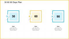 30 60 90 Days Plan Icons PDF