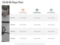 30 60 90 Days Plan Management Ppt PowerPoint Presentation File Pictures