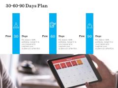 30 60 90 Days Plan Management Ppt PowerPoint Presentation File Slides