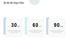 30 60 90 Days Plan Management Ppt PowerPoint Presentation Icon Influencers
