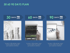 30 60 90 Days Plan Management Ppt PowerPoint Presentation Infographics Example Introduction