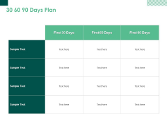 30 60 90 Days Plan Marketing Ppt PowerPoint Presentation Icon Objects