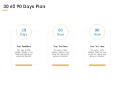 30 60 90 Days Plan Marketing Ppt PowerPoint Presentation Infographics