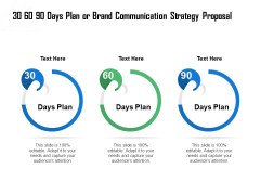 30 60 90 Days Plan Or Brand Communication Strategy Proposal Ppt Pictures Background PDF