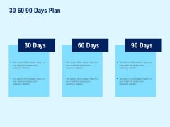 30 60 90 Days Plan Planning Marketing Ppt PowerPoint Presentation Visual Aids Gallery