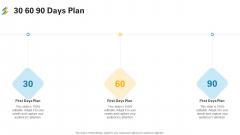 30 60 90 Days Plan Ppt Model Demonstration PDF