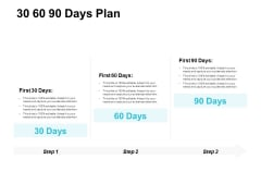 30 60 90 Days Plan Ppt PowerPoint Presentation File Ideas