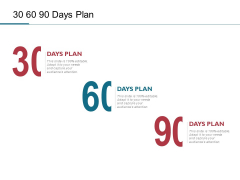 30 60 90 Days Plan Ppt PowerPoint Presentation Gallery Skills