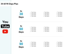 30 60 90 Days Plan Ppt PowerPoint Presentation Icon Show