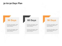 30 60 90 Days Plan Ppt PowerPoint Presentation Ideas Icon