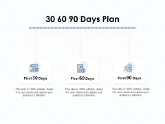 30 60 90 Days Plan Ppt PowerPoint Presentation Infographic Template Visuals