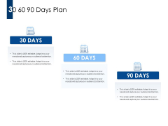 30 60 90 Days Plan Ppt PowerPoint Presentation Inspiration Layout